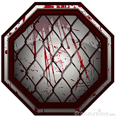 Free Bloody MMA Octagon Sign. Stock Photos - 68030273