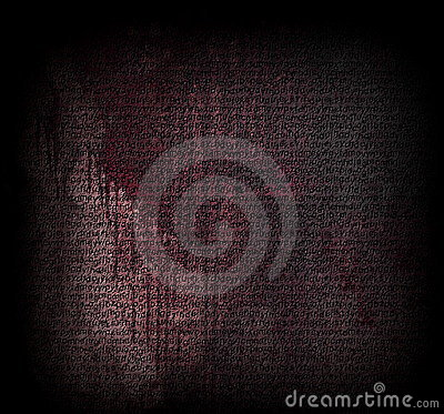 Bloody old textured wall letters
