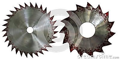 Bloody saw blade
