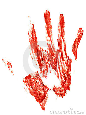 Bloody Trail of a human hand