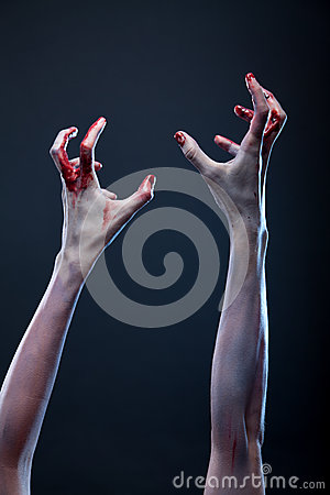 Bloody Zombie Hands Royalty Free Stock Images - Image: 27354009