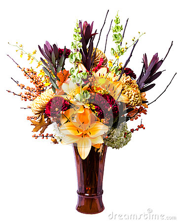 Blooming flower arrangement in vase