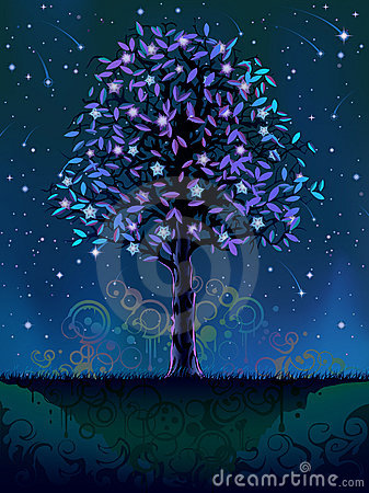 Blooming night tree