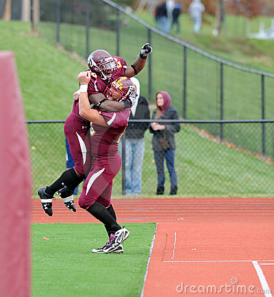 Bloomsburg football touchdown celebration Editorial Photography