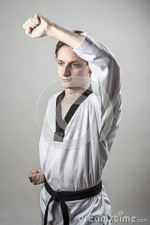 Bloque de la defensa del Taekwondo