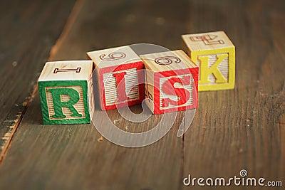 Bloques de madera del riesgo
