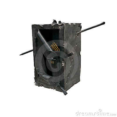 Blow open safe