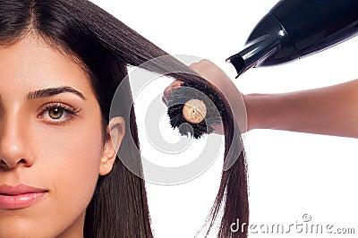 Blowdry Girl Hair