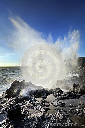 Blowhole on Reunion Island
