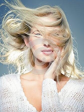 Blowing hair