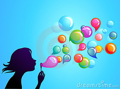 Blowing soap bubbles - 1