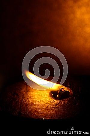 Blown flame