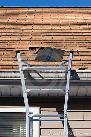 Blown Out Roof Shingles Repair