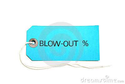Blowout Sale Tag