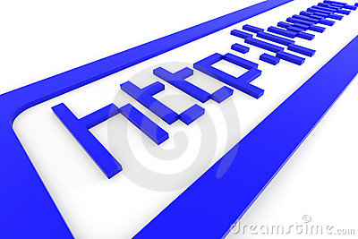 Blue 3d address http www. Internet concept.