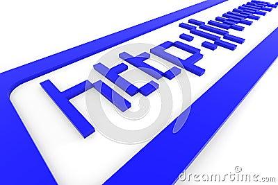 Blue 3d address http www. Internet concept.
