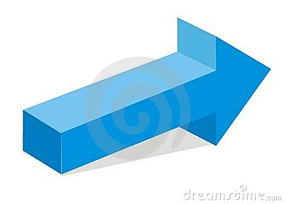 Blue 3d arrow
