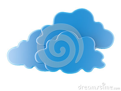 Blue 3D cloud icons