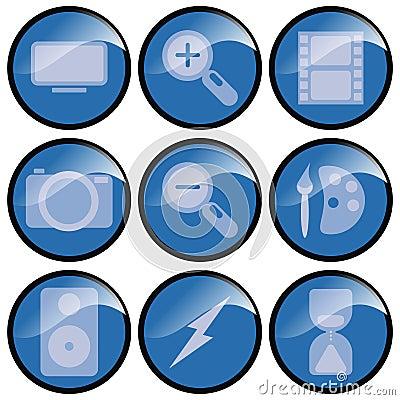 Blue 3d Icons