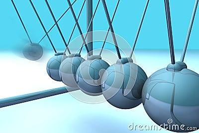Blue 3d pendulum