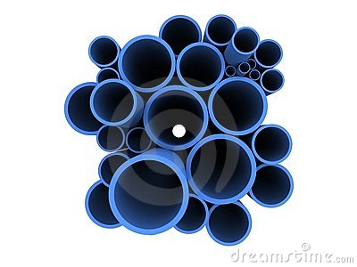 Blue 3d pipes