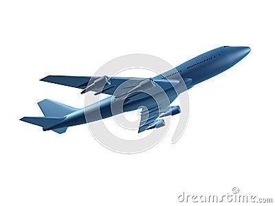 Blue 3d plane