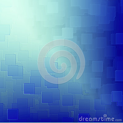 Blue abstract background cubes relief texture