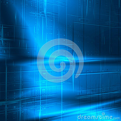Blue abstract background new technology texture