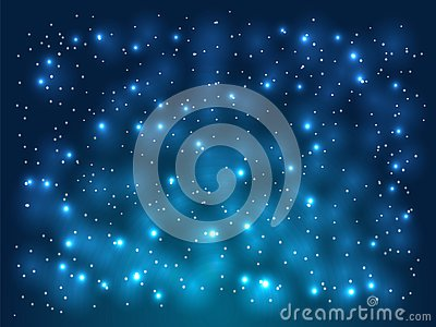 Blue Abstract background. Night sky with stars. Vector illustration Vector Illustration