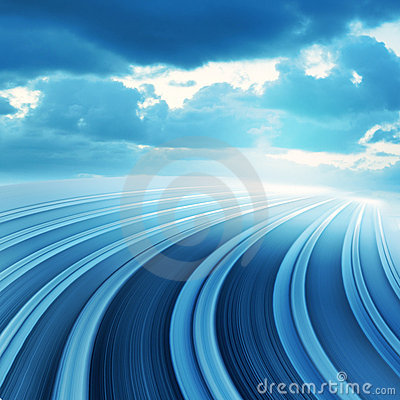 Free Blue Abstract Blurred Speed Motion Stock Images - 14107434