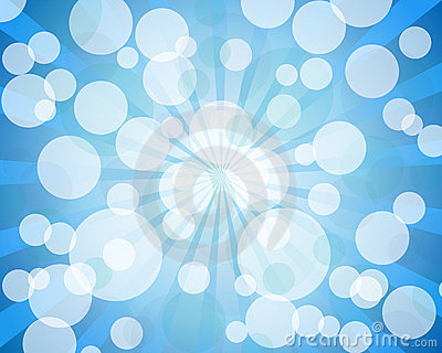 Blue abstract bokeh