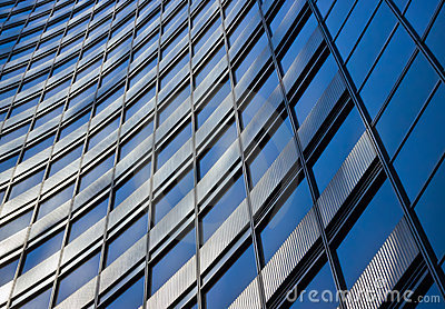 Blue abstract business building background