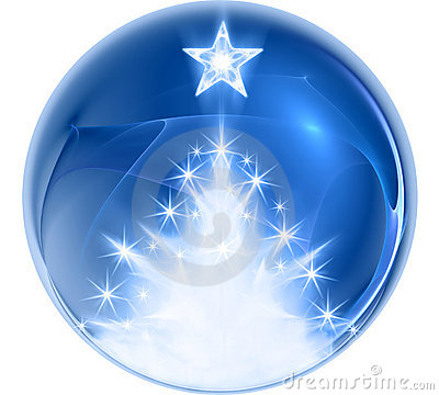 Blue abstract christmas ball