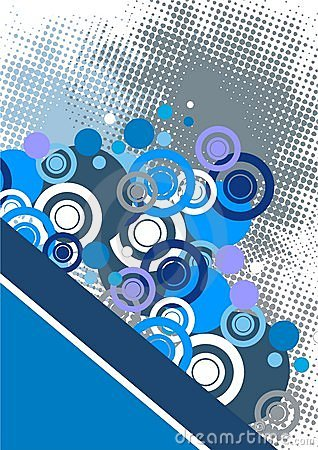 Free Blue Abstract Circles Background Royalty Free Stock Image - 16452776