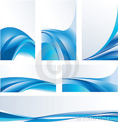 Blue abstract compositions