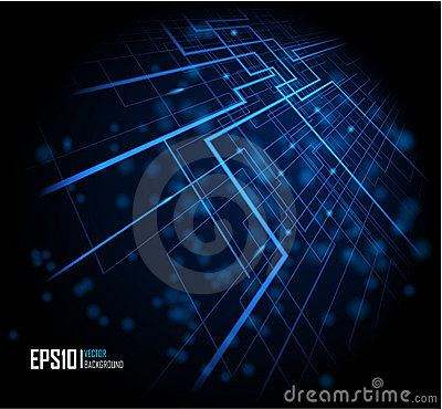 Free Blue Abstract Glowing Background Stock Photo - 20672280