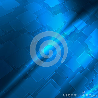 Blue abstract high tech background