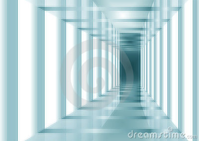 Blue abstract interior