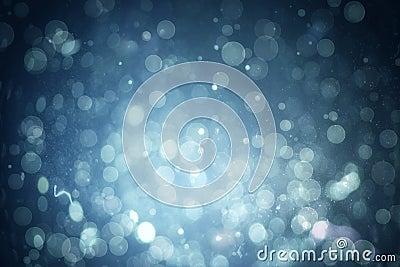 Blue abstract light spot design