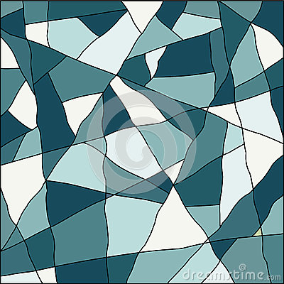 Blue abstract mosaic background