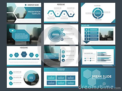 Blue Abstract presentation templates, Infographic elements template flat design set for annual report brochure flyer leaflet Vector Illustration