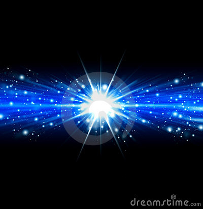 Blue abstract shine background