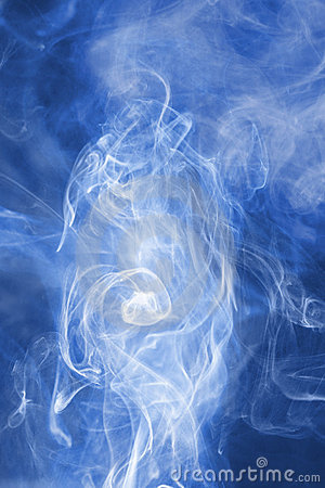 Blue abstract smoke background