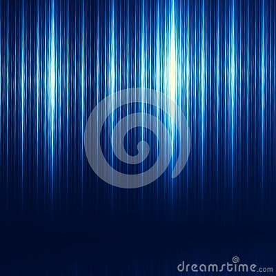 Blue Abstract Technology Background. Brushed Iron Texture. Modern Illustration. Minimalistic Digital Tablet or Desktop Computer. Stock Photo