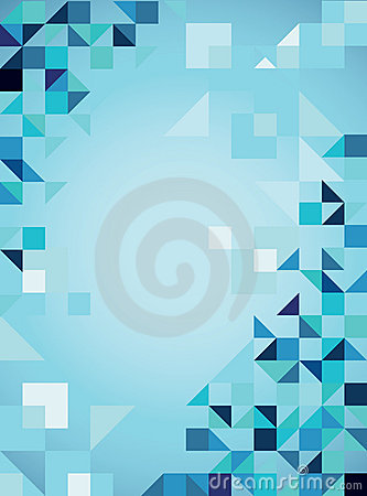 Blue abstract  trendy background with triangles