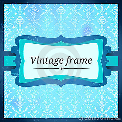 Blue aged frosty frame