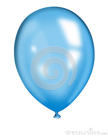 Blue air baloon