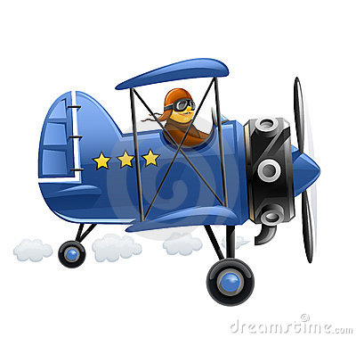 Free Blue Airplane With Pilot Stock Photos - 18905623