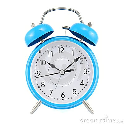 Free Blue Alarm Clock Isolated Stock Photo - 45909340