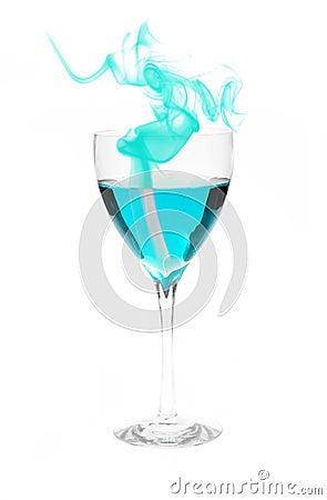 Blue Alcohol with Smoke